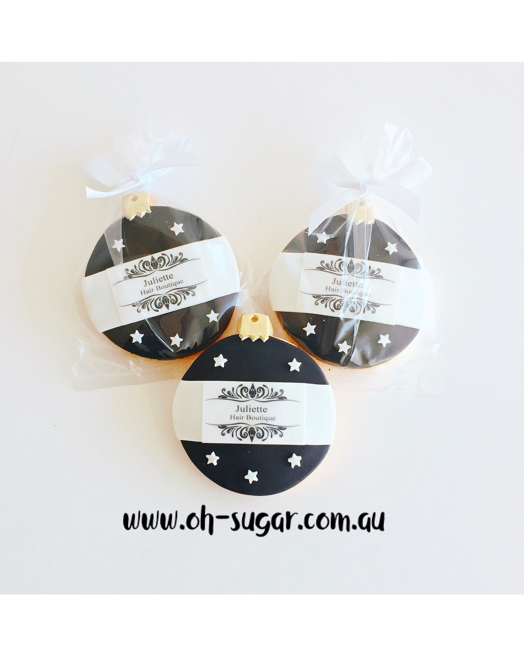 black and white baubles